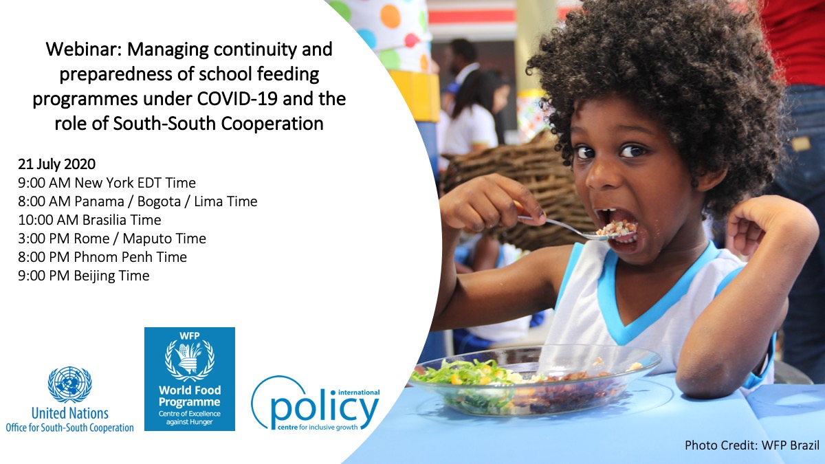 Managing continuity and preparedness of school feeding programmes under COVID-19 and the role of South-South Cooperation