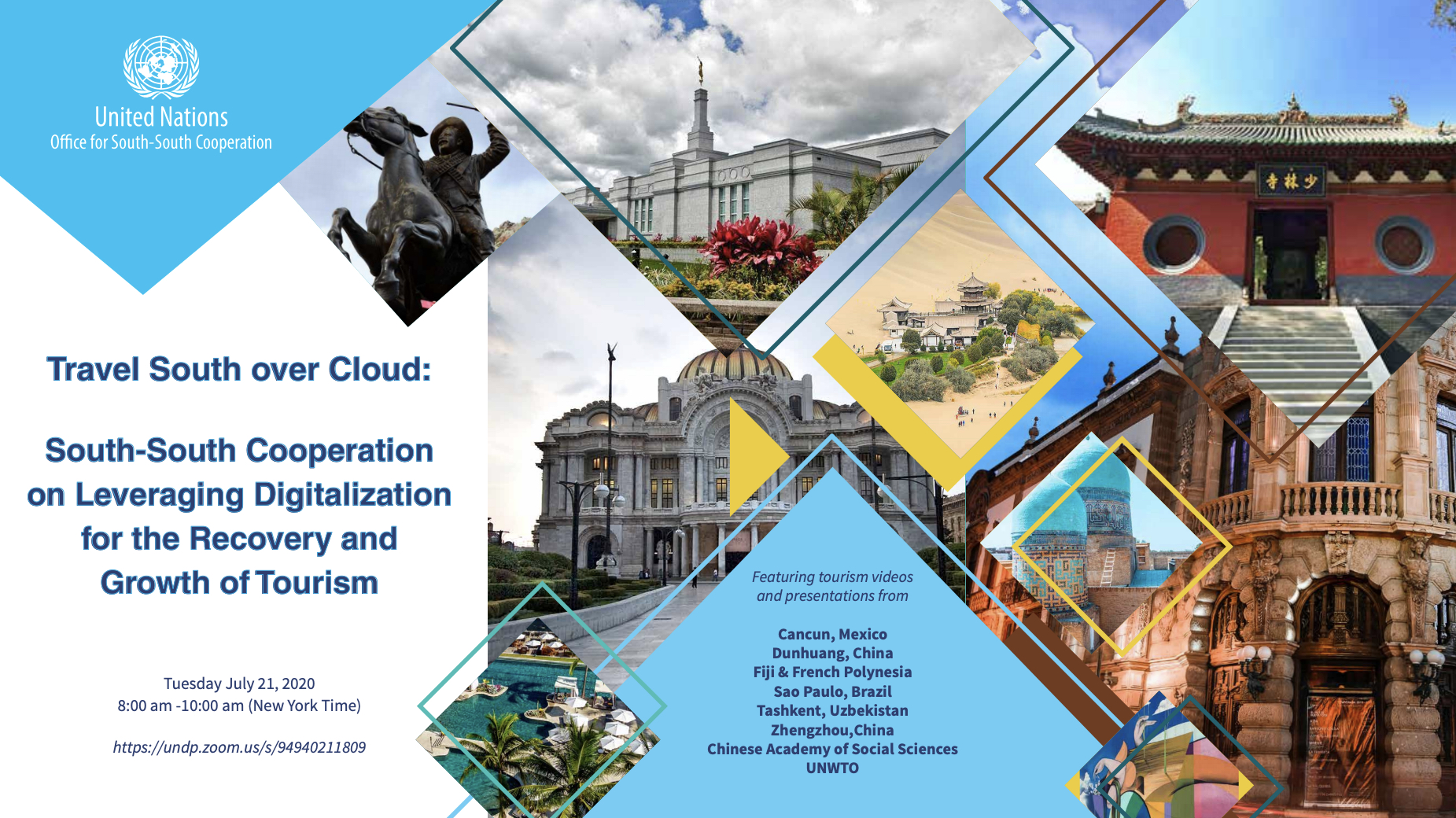 Webinar: Travel South Over Cloud – South-South Cooperation on Leveraging Digitalization for the Recovery and Growth of Tourism