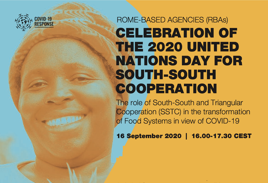 Rome-based Agencies (RBAs) Celebration of the 2020 United Nations Day for South-South Cooperation