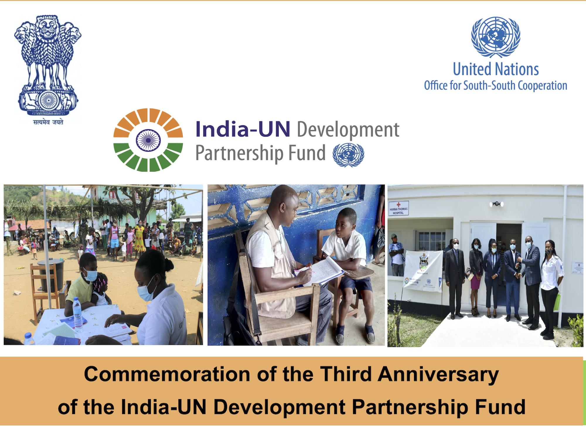 India-UN Development Partnership Fund Commemoration of Third Anniversary