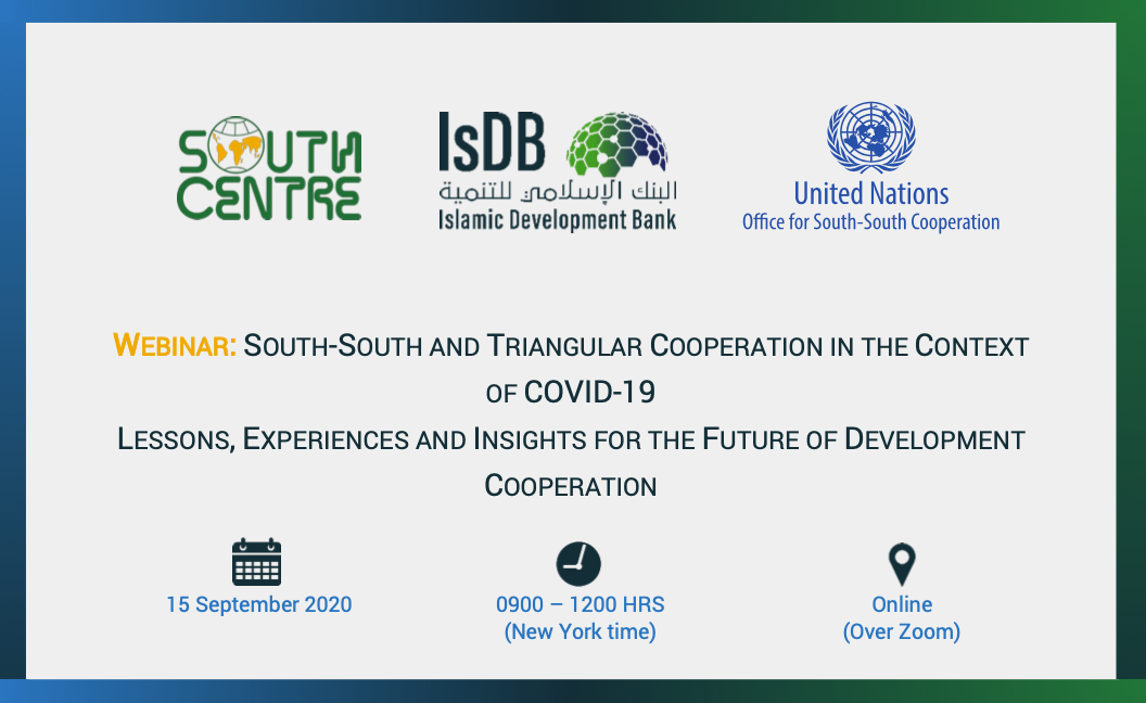 South-South and Triangular Cooperation in the Context of COVID-19 — Lessons, Experiences and Insights for the Future of Development Cooperation
