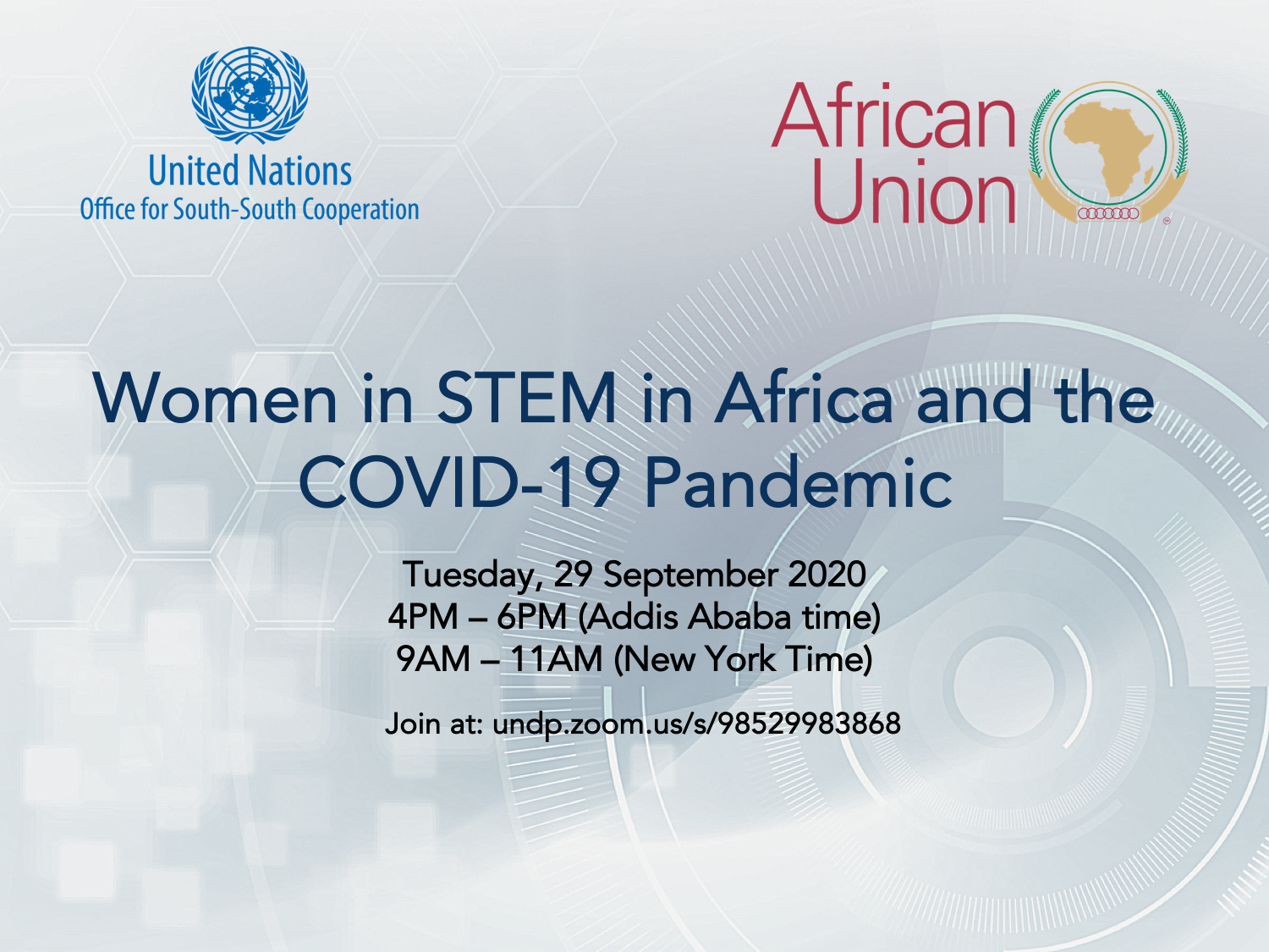 Women in STEM in Africa and the COVID-19 Pandemic, 29 September 2020