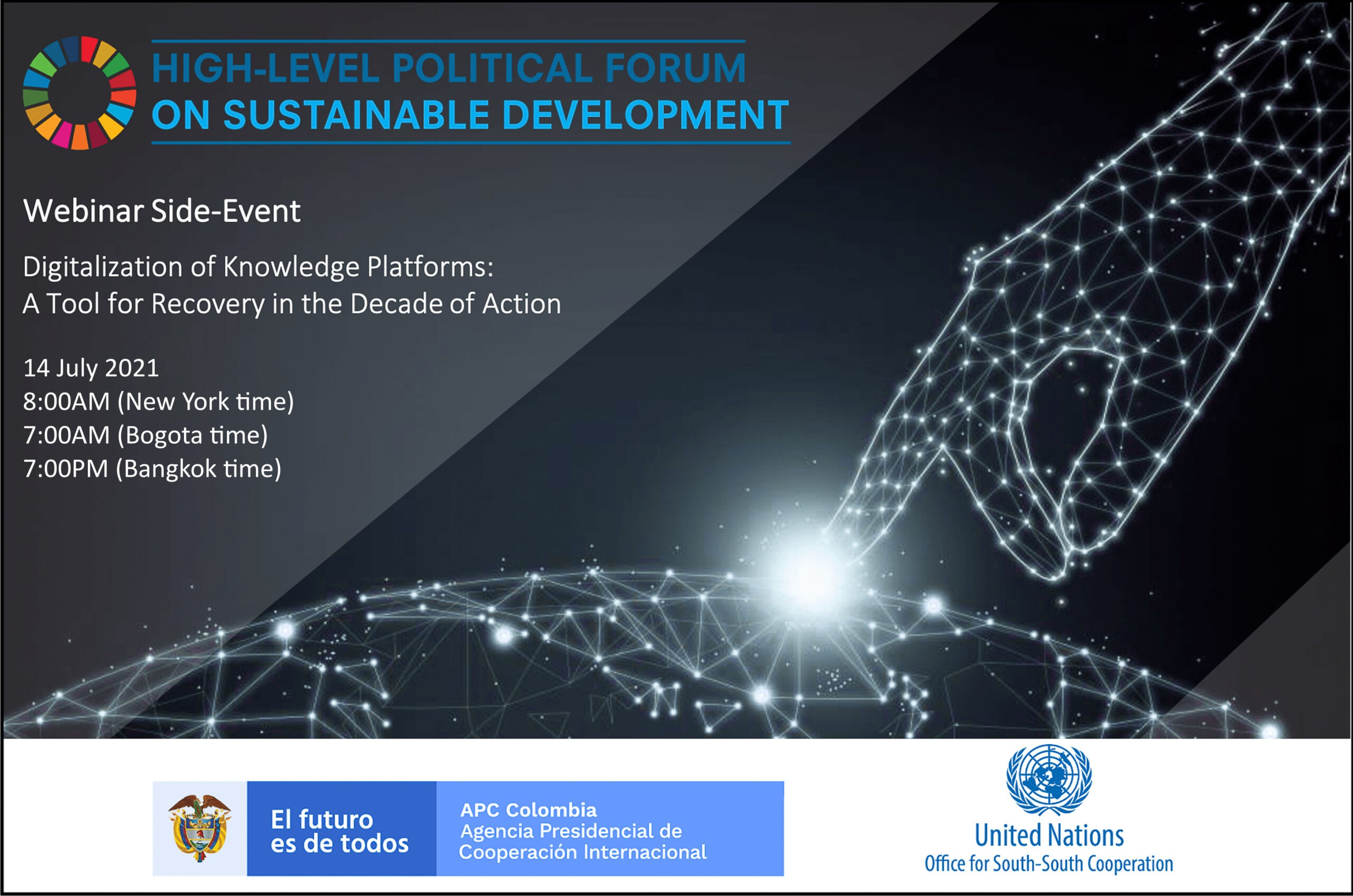 HLPF Side-event: Digitalization of Knowledge Platforms – A Tool for Recovery in the Decade of Action