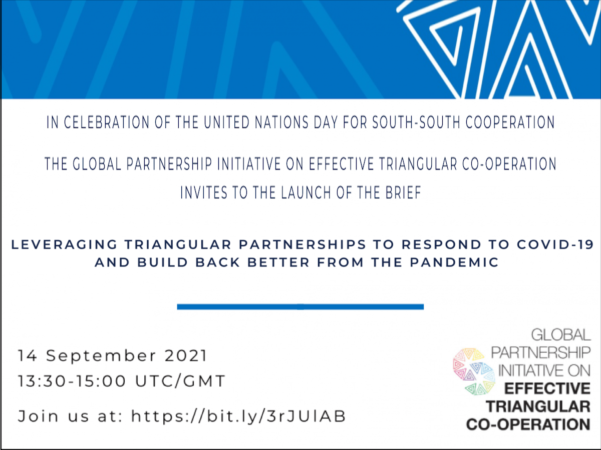 Leveraging Triangular Partnerships to Respond to COVID-19 and Build Back Better, 14 September 2021