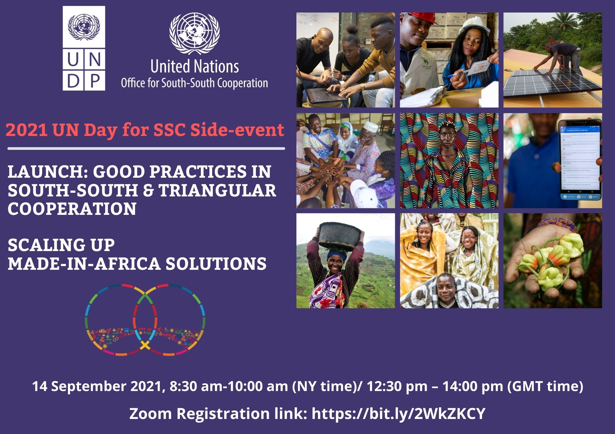 UN Day for SSC Side-event: Launch of Good Practices in SSTC – Scaling Up Made-in-Africa Solutions, 14 September 2021