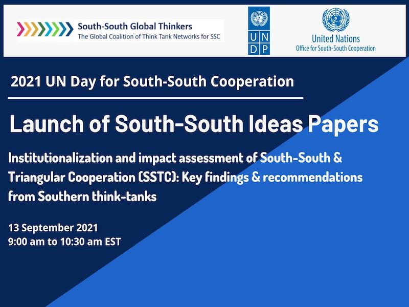 2021 UN Day for SSC Side-event: Launch of South-South Ideas Papers, 13 September 2021